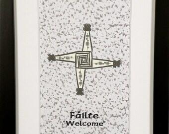 Welcome (Fáilte) Ogham 5x7 Print