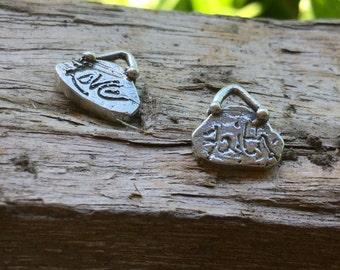 Little love faith Charm sterling Silver Artisan CH926