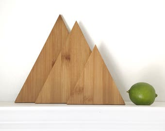Geometric Cutting Board Set, Mountain Decor, Boho Kitchen, Boho Decor, Modern Kitchen, Home Decor, Serving Platter, Rustic, Minimalist
