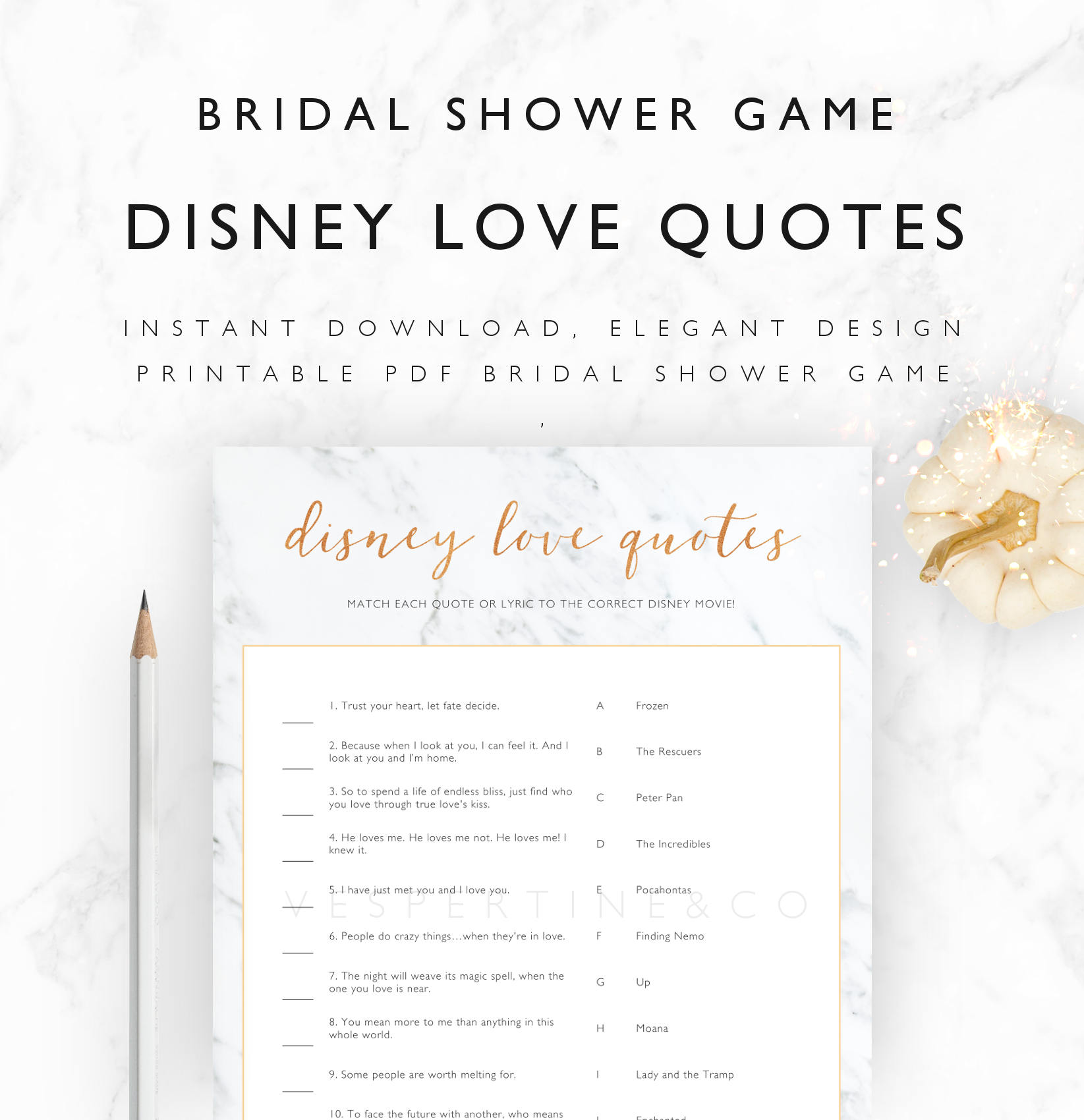 Love Spell Quotes Bridal Shower Games Printable Disney Love Quotes Lyrics