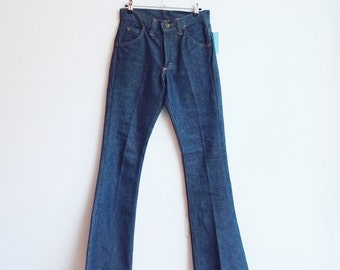 Vintage deadstock lee bell bottoms hippie flared jeans flares XS