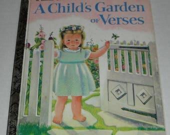 A Child's Garden of Verses by Robert Louis Stevenson Selectedand Illustrated by Eloise Wilkin Vintage A Little Golden Book