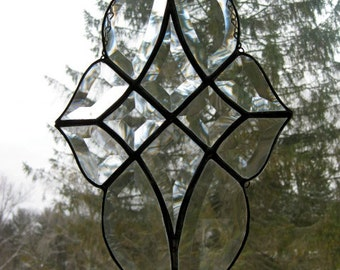 Clear glass star bevel cluster