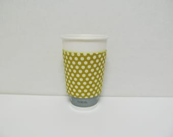 Cup Sleeve/Dots On Olive