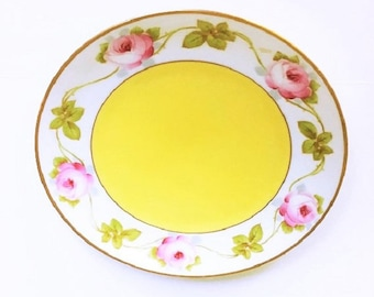 Bavaria Porcelain Plate, collectible decorative china hand painted, new home gift, cottage chic style home decor housewares