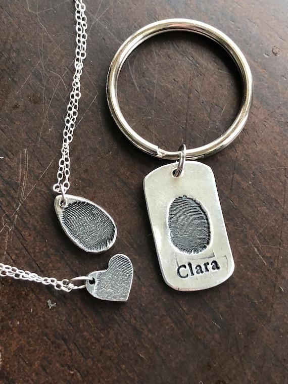 Fingerprint keychain of Clara