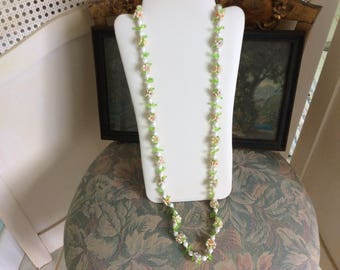 "Vintage Fruit Salad Necklace, 19"" Long"