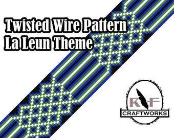 Loom Beading Pattern - Twisted Wire (La Leun Theme)