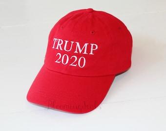 Trump 2020 Hat, Make America Great Again, Trump Cap Embroidered Hat, Custom Baseball Cap by Bloomingdeals
