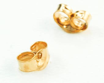 1 Pair 14kt Solid Gold Ear Nuts
