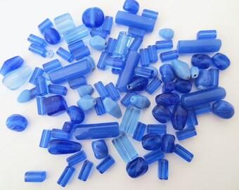 50gr assorted sea glass beads