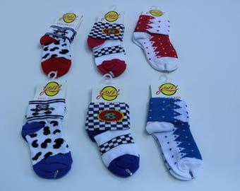 6 Pack Assorted Socks