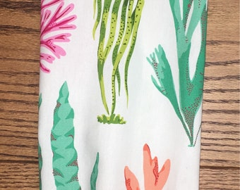 Pink, Lime Green, Green, Coral Reef Grocery Bag Holder- Plastic Bag Holder-