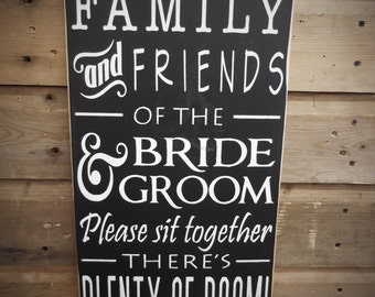 Ceremony Sign Wedding Signs Choose a seat not a side sign