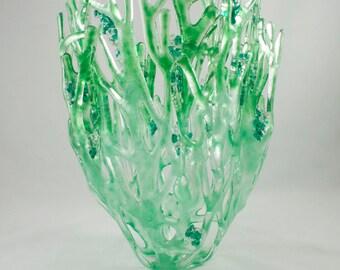 Shades of Green sea grass sculpture
