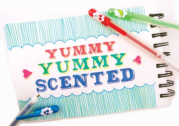 The pens I used were Yummy Yummy Scented Glitter Gel Pens :) Ps. My