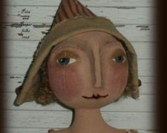 Primitive Folk Art Doll - Melody, a vision of romance epattern