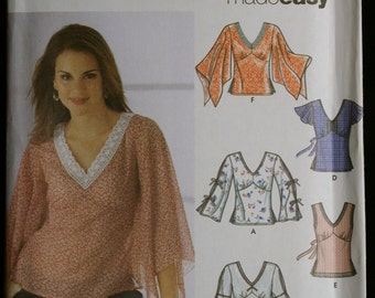 Simplicity 5595 Misses Set of Tops with Sleeve Variations Sewing Pattern Sz 4 to 10