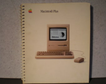 Vintage 1980's Apple Macintosh Plus Owner's Manual - 030-1246-B