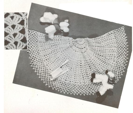 Baby Crochet Circular Shawl Vintage Pattern Pdf