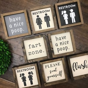 Superbe Mini Collection   Bathroom Sign | Wood Sign | Kids Bathroom | Bathroom Wall  Decor |