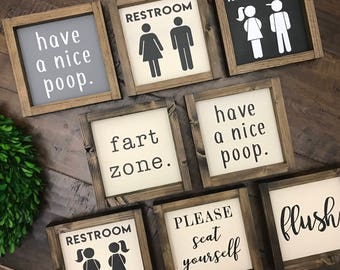 Charmant Popular Items For Bathroom Signs