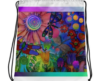 Dragonfly Dream Drawstring bag