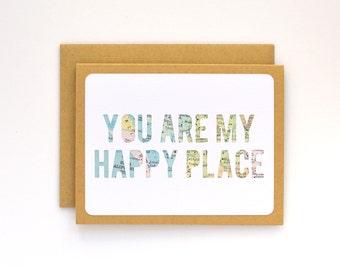 Carte de Saint Valentin pour lui, la carte d'anniversaire pour mari, carte relation longue Distance pour un jeune homme, carte de Saint Valentin pour le mari ou la femme