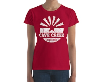 Red for Ed Cave Creek / Arizona protest shirt / Red for Ed / #RedforEd / teacher shirt / Arizona Red for EdWomen's short sleeve t-shirt