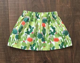 READY TO SHIP, Size 2t Skirt, Cactus Skirt, Cactus, Baby Skirt, Toddler Skirt, Girls Skirt, Cactus' Skirt, Summer Skirt, Twirl Skirt, Skirt