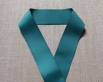 Green Grosgrain Ribbon, 1.5 Inch Ribbon, Solid Color Ribbon, Sewing Ribbon, Craft Ribbon, Hairbow Ribbon, Scrapbook Ribbon, Green Ribbon