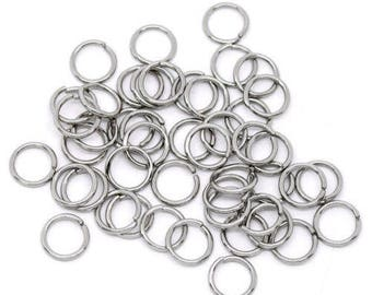 150 7 mm x 0.7 mm silver jump rings