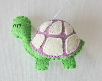 Puple turtle hanging ornament - lilac lavender baby room idea  party supplies nursery decor Christmas gift idea gifts for kids for boys