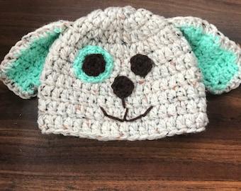 Green puppy hat