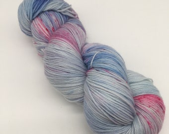 On a whim - hand-dyed 4ply sock yarn - 100g