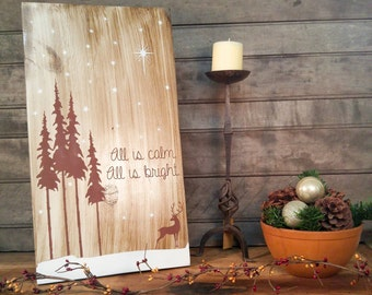 Rustic Holiday Sign - Christmas Sign - Rustic Christmas - Woodland Decor - Rustic Signs - Rustic Christmas Decor - Christmas Decor - Holiday