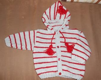 Hooded baby vest