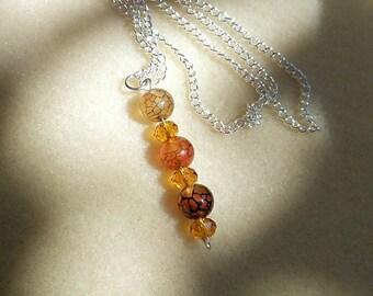 Orange Dragon Vein. Chinese Crystal
