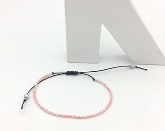 Bracelet MINI coral white and silver No. 4