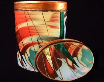 Abstract Wave Decorative Box