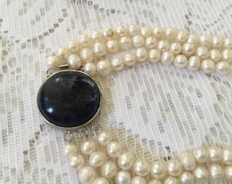 Pearl 3 stranded necklace 1980's