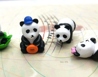 4 Pc Panda Miniature Garden Plants Terrarium Doll House Ornament Fairy Decoration PM011518