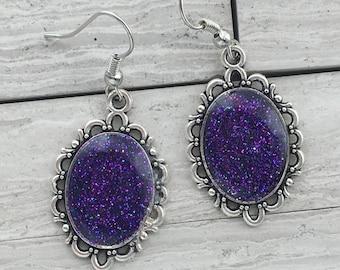 Shimmer glimmer earrings   Vintage style earrings