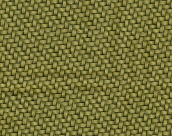 Nature's Brilliance Basketweave w/ Gold Kaufman 1 Yard Fabric
