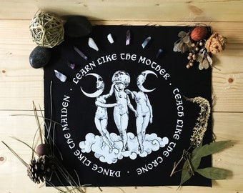 Goddesses - Back-Patch - Punk Patch - Witch Patch - Goth Patch - Sew-on Patch