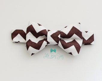Baby Boy Brown Bow Tie, Boys - Men Bow Tie, 1st Birthday Boy, Ring Bearer Outfit, Kids Bow Tie, Toddler Bow Tie, Boys Cake Smash Outfit