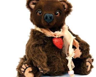 Teddy Bear Potapych Collectible toy Collectible Bear from the artist Olga Kulemina