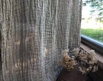 Linen Curtain Panel, Window Curtains, Sheer Curtains, Burlap Curtains, Linen Drapes, Long Curtain, Linen Curtains, Curtain Panels, Boho