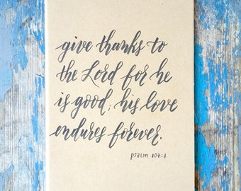Give Thanks Moleskin Journal