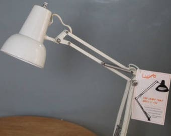 Mid century modern mini Luxo metal articulating desk lamp light